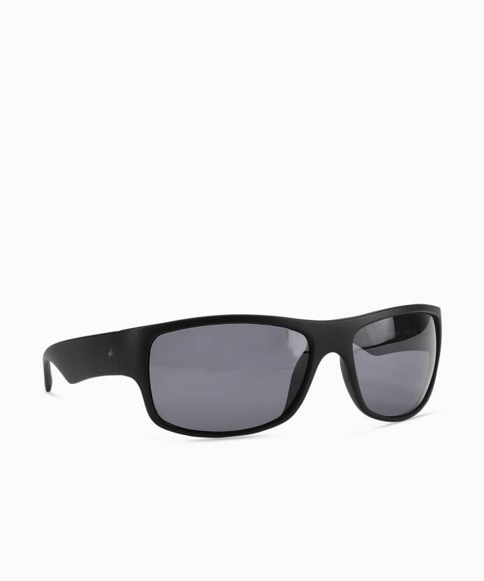62bf2af4cc Buy Fastrack Wrap-around Sunglasses Black For Men Online   Best ...