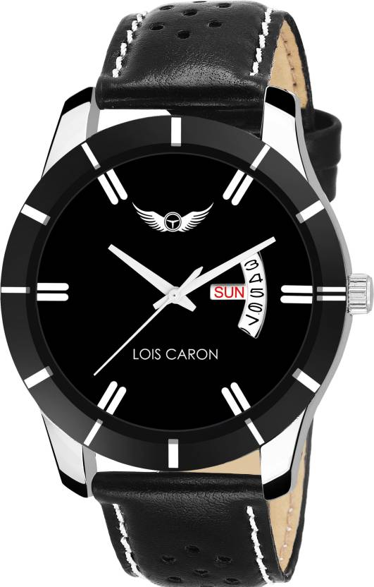 db51fbceafe Lois Caron LCS-8088 BLACK DIAL DAY   DATE FUNCTIONING Watch - For Men - Buy  Lois Caron LCS-8088 BLACK DIAL DAY   DATE FUNCTIONING Watch - For Men  LCS-8088 ...