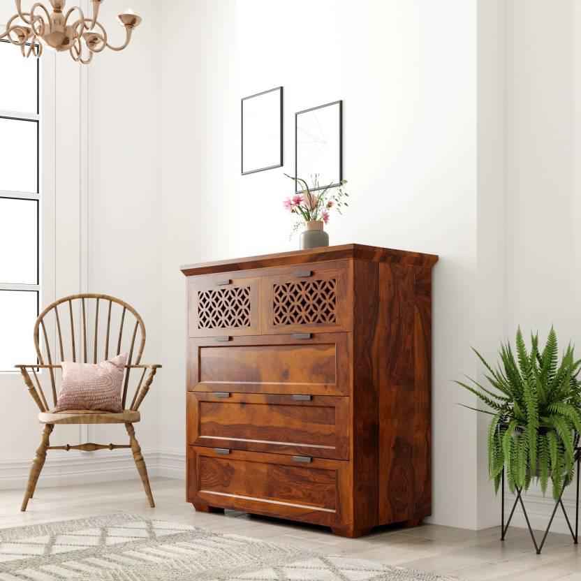 543b1e74cbe Flipkart Perfect Homes PureWood Sheesham Chest of Drawers (Finish Color -  Honey)