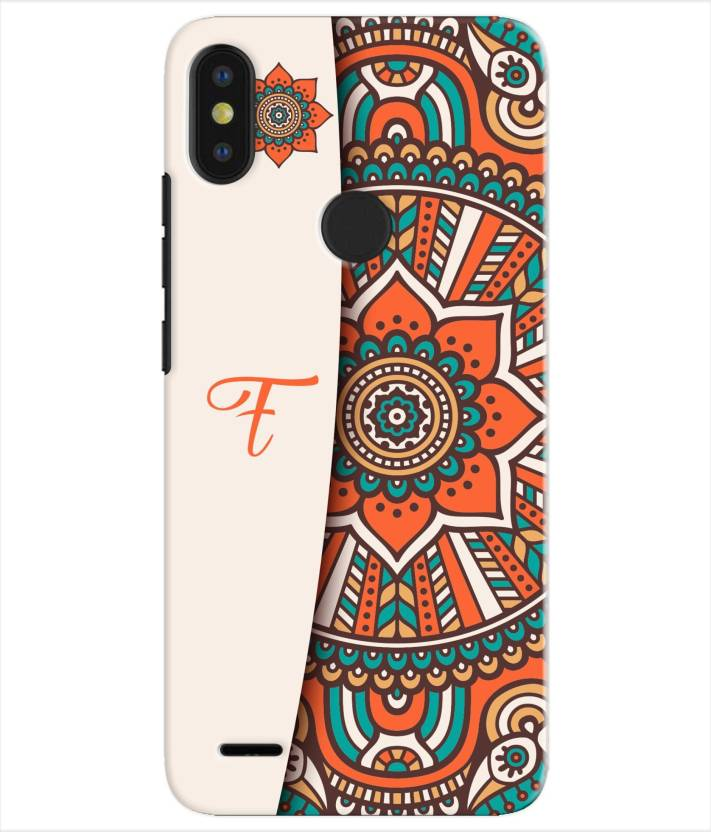 Etechnic Back Cover for Tecno Camon I Sky 2 - Alphabet F