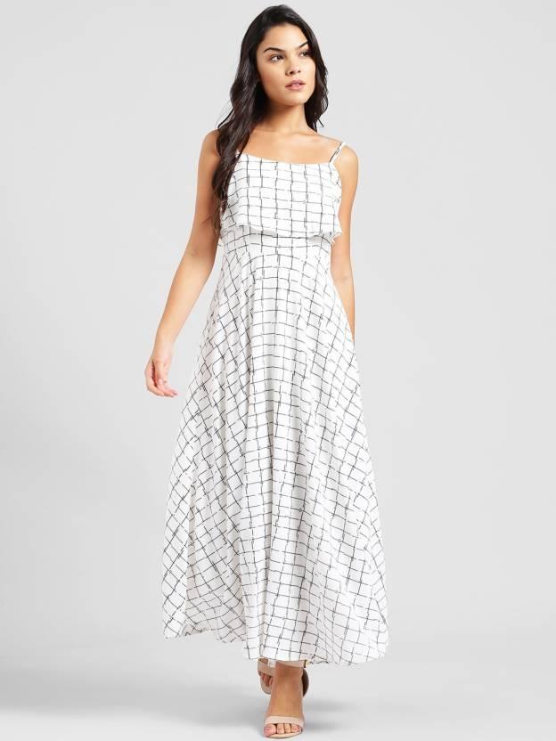 c198501702 Zink London Women Maxi White Dress - Buy Zink London Women Maxi White Dress  Online at Best Prices in India
