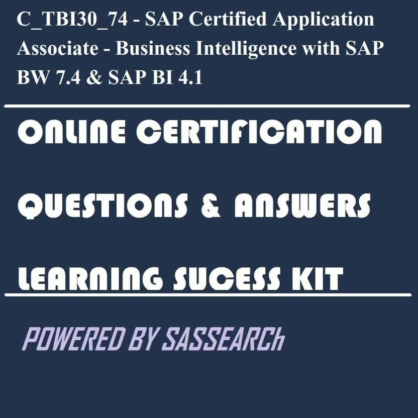 Sapsmart Ctbi3074 Sap Certified Application Associate Business