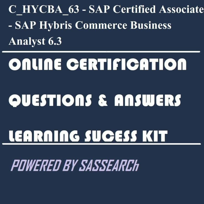 Sapsmart Chycba63 Sap Certified Associate Sap Hybris Commerce