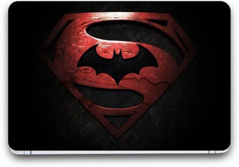 Punix Superman Batman Wallpaper Exclusive Laptop Skin