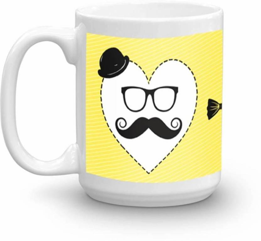 Albatraoz fathers day yellow cup Ceramic (200 ml) Ceramic