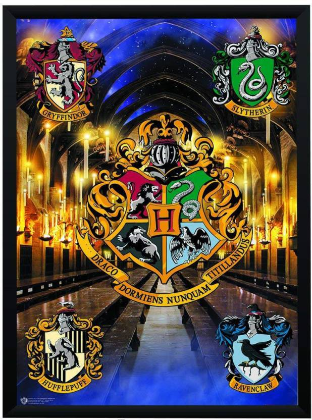 Wb Official Licensed Harry Potter Hogwarts Crests Poster A3 13 X