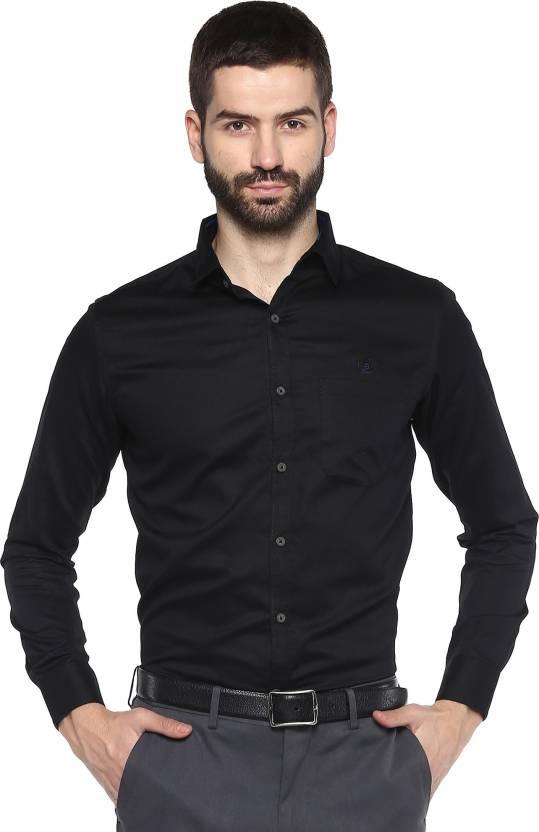5df582fbc0e SPEAK Men Solid Formal Black Shirt - Buy SPEAK Men Solid Formal Black Shirt  Online at Best Prices in India