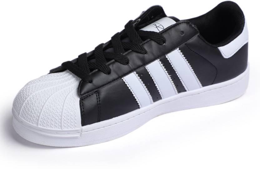 finest selection 8f12b 609f6 Mr.SHOES 1816-1-BLACK SUPERSTAR Sneakers For Men