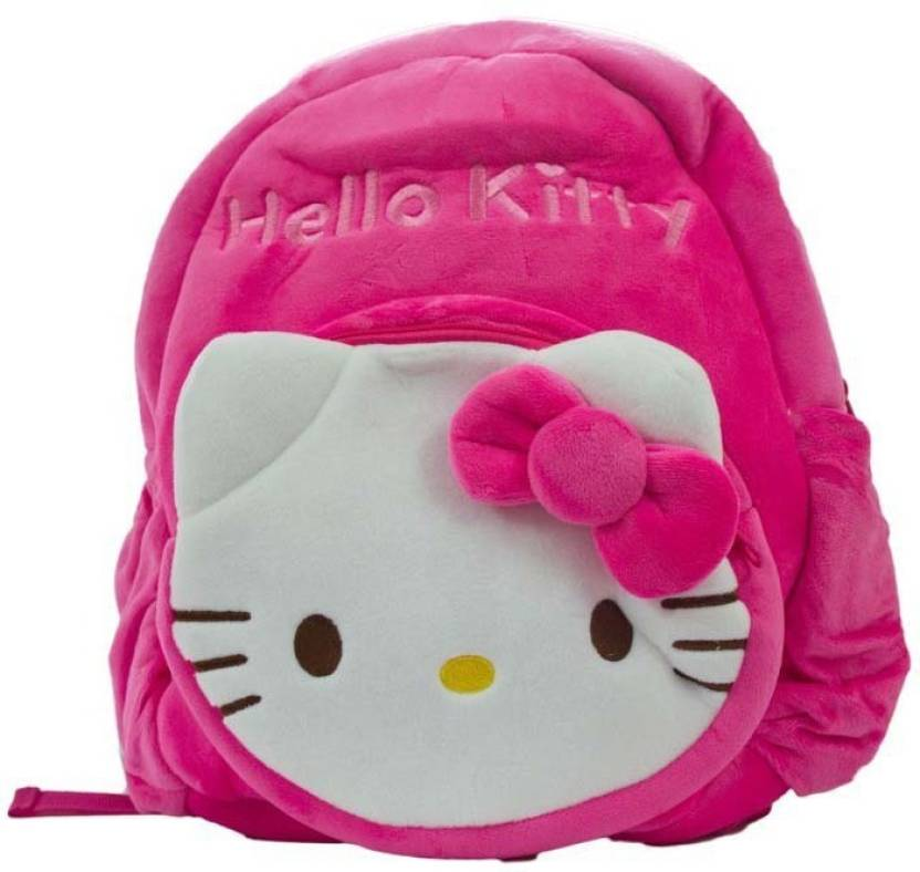 Shopkooky Hello Kitty school bag 1 compartment (13 13 12 INCH) for  kids girls boys children plush soft bag backpack - 13 inch (Pink) 17e6bed1d6e54