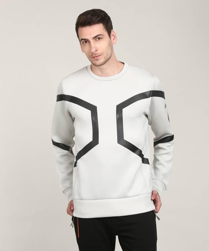 6a988ea5ba3b Asics Full Sleeve Printed Men s Sweatshirt - Buy ASH GREY HEATHER Asics  Full Sleeve Printed Men s Sweatshirt Online at Best Prices in India