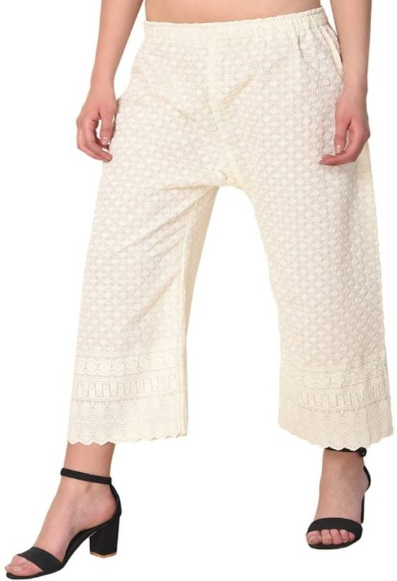 3c0474941d TRENDY LOOKS Regular Fit Women Cream Trousers - Buy TRENDY LOOKS ...