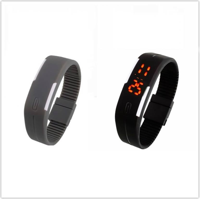 3e044fb3d ShoppingKiSite Silicone Led Sports Watches Men Women Dress Children  Electronic LED Digital Watch Man Ladies Morning Running Watch - For Boys &  Girls - Buy ...