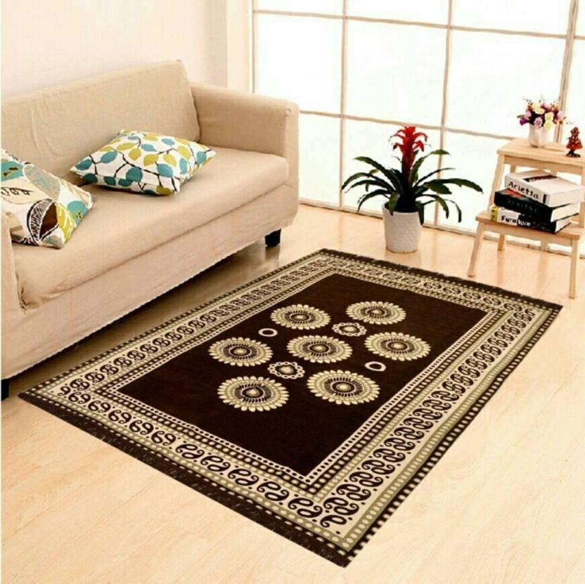 SRS HOME Multicolor Chenille Carpet (152 cm X 182 cm)