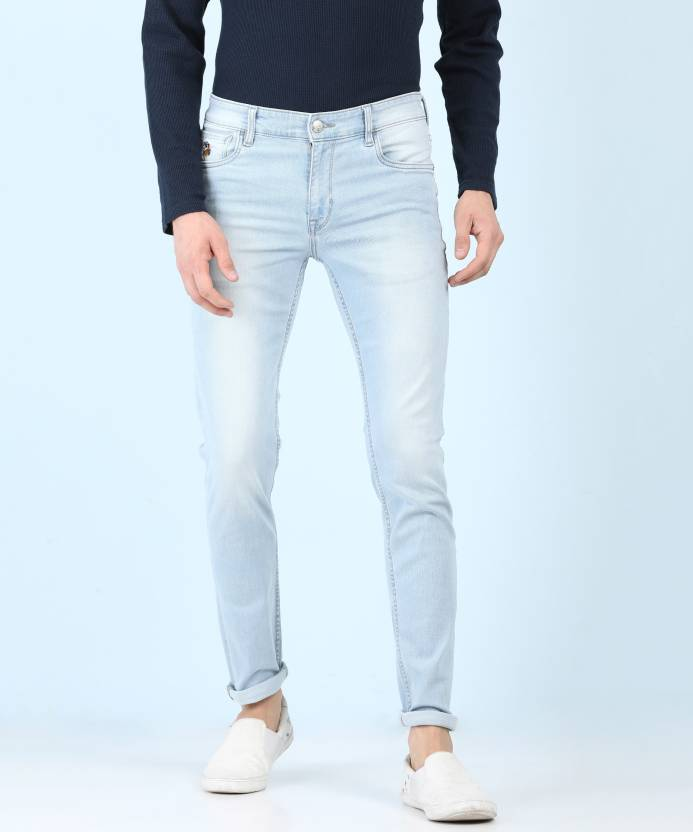 3bf35e3078 U.S. Polo Assn Slim Men s Light Blue Jeans - Buy U.S. Polo Assn Slim Men s  Light Blue Jeans Online at Best Prices in India