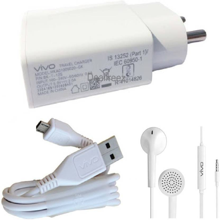 Vivo Wall Charger Accessory Combo for vivo mobile (White)
