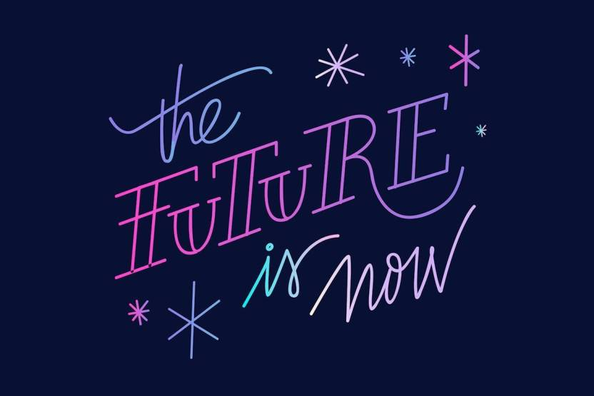 The Future Is Now Motivational Wall Art Poster Fine Art Print Fascinating The Future Is Now Quote