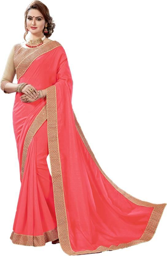 8e19f9e6b98ac3 Buy M.S.Retail Woven Fashion Raw Silk Pink Sarees Online   Best ...