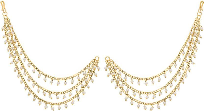 Flipkart Com Buy Aadita Bahubali Jhumka Earrings With Long Chain