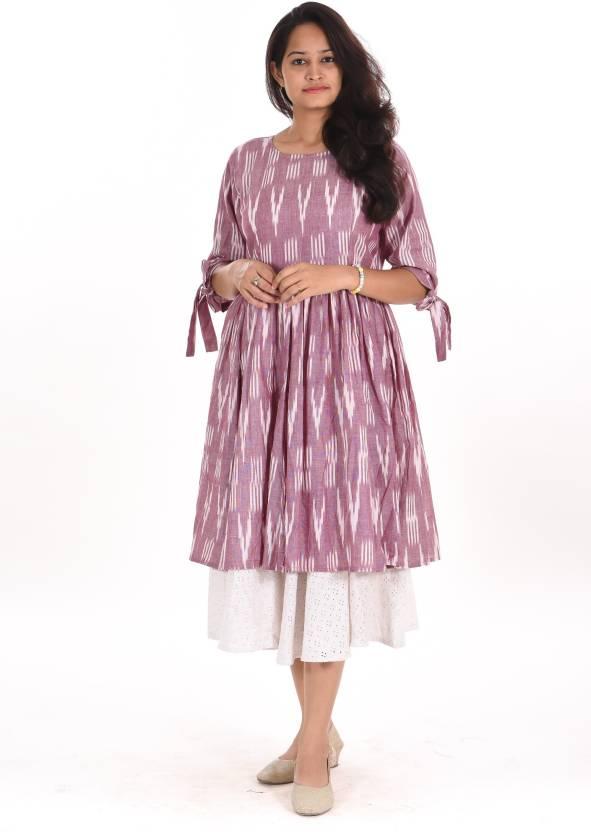 bd0086d18ace VIBGYOR FASHION Women Fit and Flare Purple