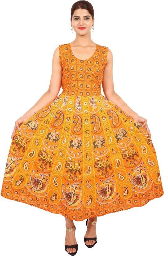 7c38b4d50c960 Decot Paradise Women Maxi Orange Dress - Buy Decot Paradise Women ...