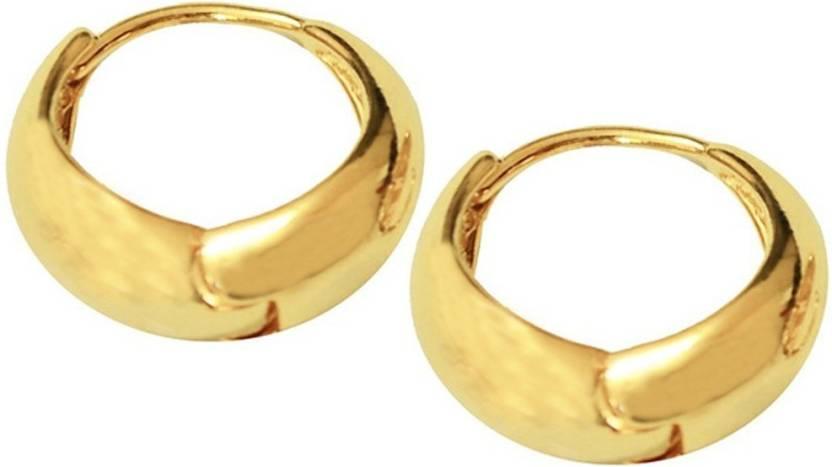 Men Style Best Quality Korean Made Salaman Khan Inspired Gold Earring Er01007 Stainless Steel Hoop
