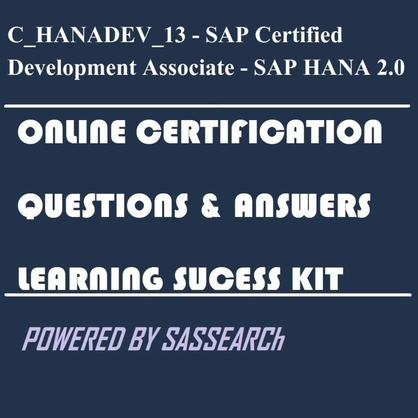 Sapsmart Chanadev13 Sap Certified Development Associate Sap
