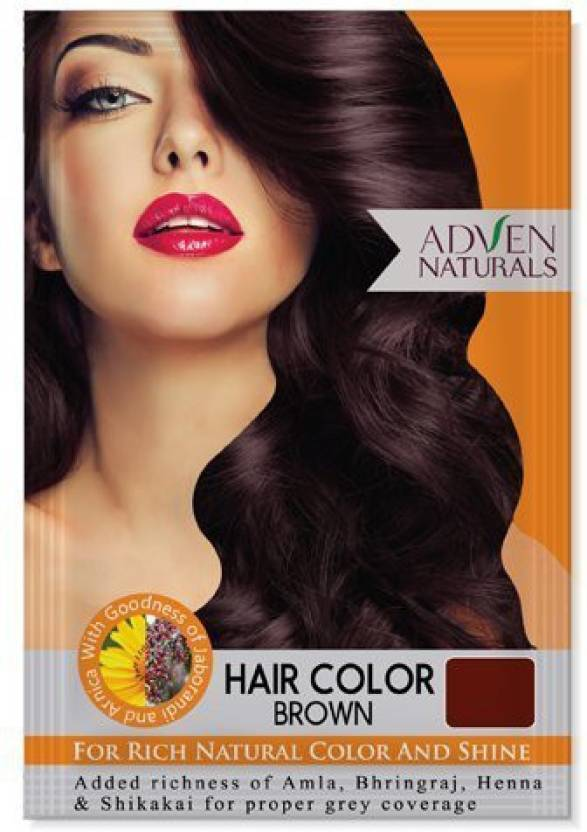 Adven Naturals HAIR COLOUR BROWN PACK OF 4 Hair Color ...