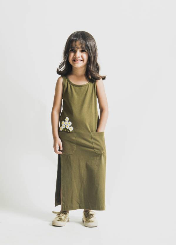 373fa574180cd POSSWEAR Girls Maxi/Full Length Casual Dress Price in India - Buy ...
