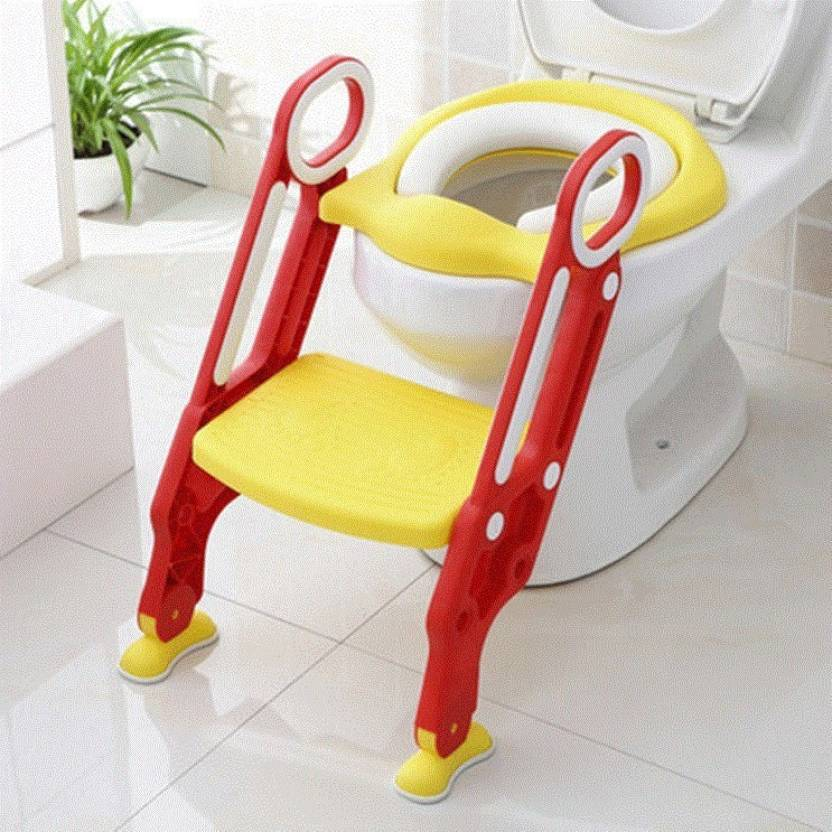 97d62d64d NIRVA Potty Training Seat for Potty Training Step Trainer Ladder Toilet  Training Potty Seat In Non-Slip Steps soft Cushion Pad for Baby Boys Girls  In Yellow ...