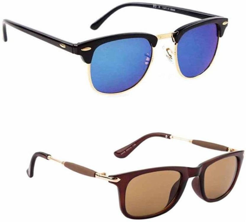 442e8f19adf Buy Fast Foh Clubmaster Sunglasses Black For Men   Women Online ...