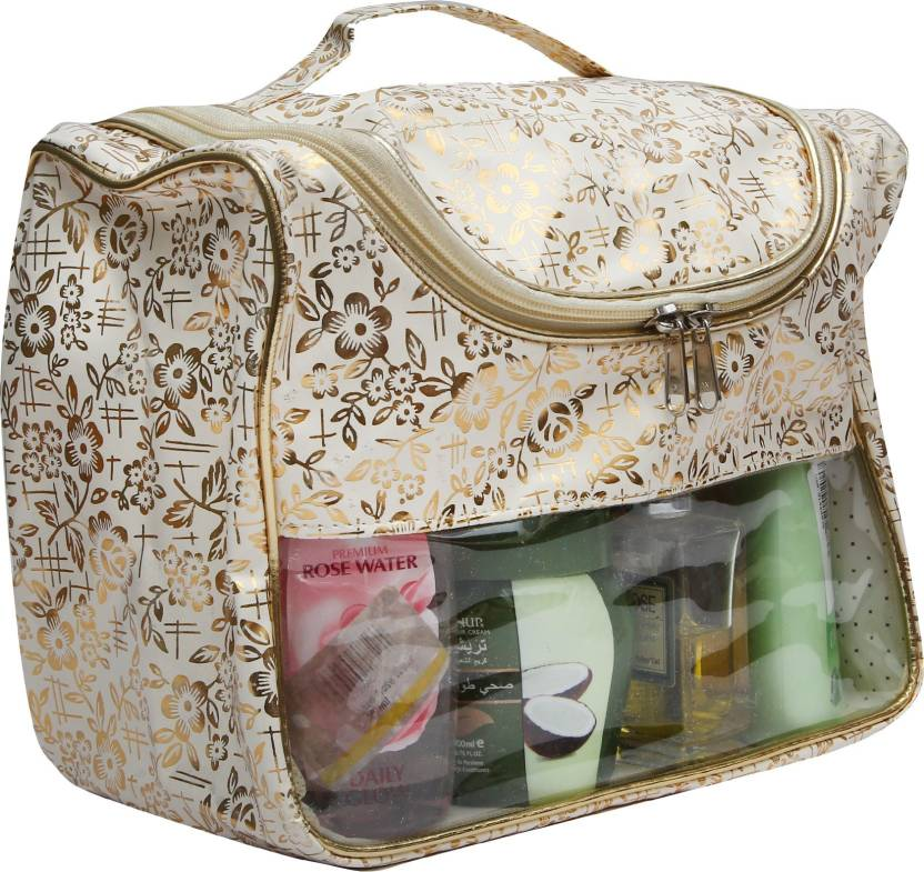 Divyana Travel Organiser Toiletries Pouch Makeup Kit Cosmetic Case Vanity Multipurpose Bag