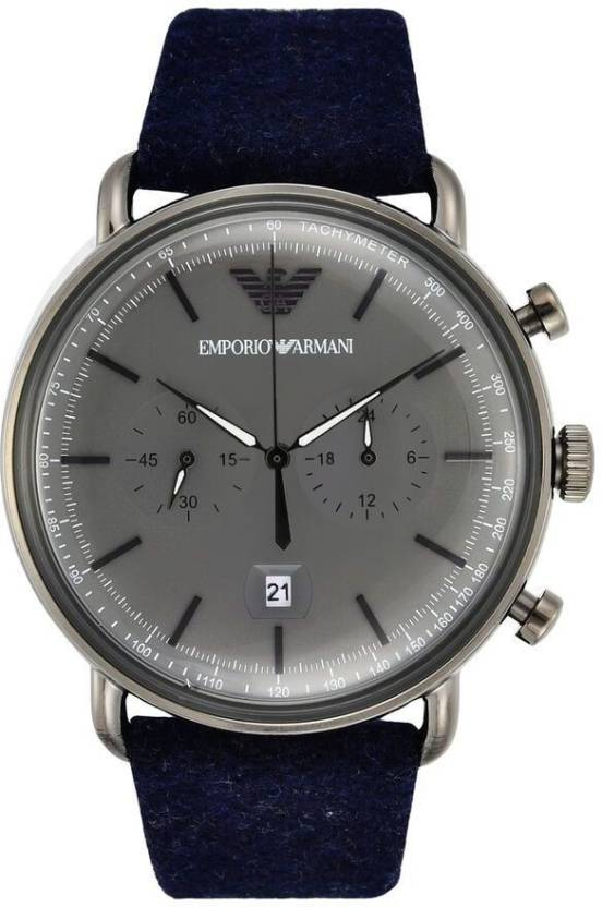 7035e3761e1 Emporio Armani AR11144 Aviator Watch - For Men - Buy Emporio Armani AR11144 Aviator  Watch - For Men AR11144 Online at Best Prices in India