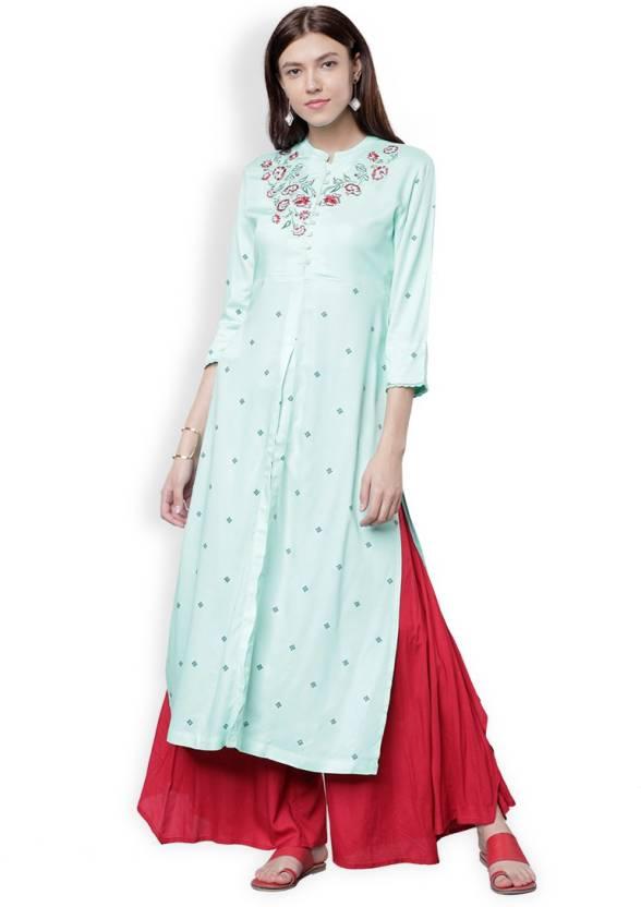 47ebab2d31d Vishudh Women s Solid A-line Kurta - Buy Vishudh Women s Solid A ...