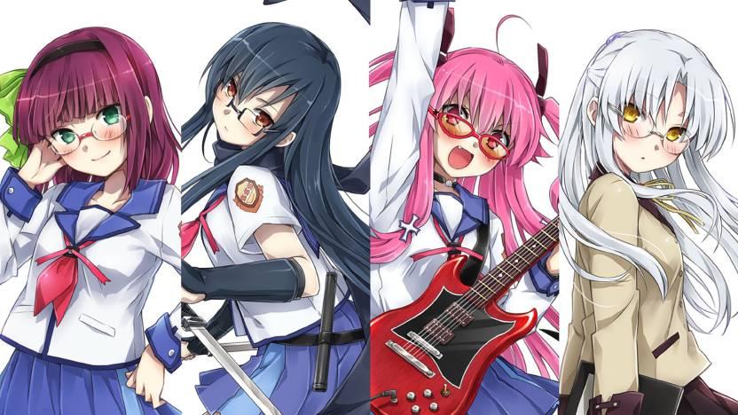Athah Anime Angel Beats! Kanade Tachibana Yuri Nakamura Yui