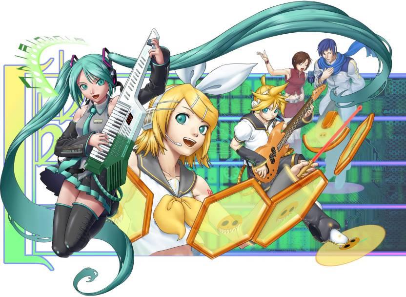 Athah Anime Vocaloid Hatsune Miku Rin Kagamine Len Kagamine Kaito