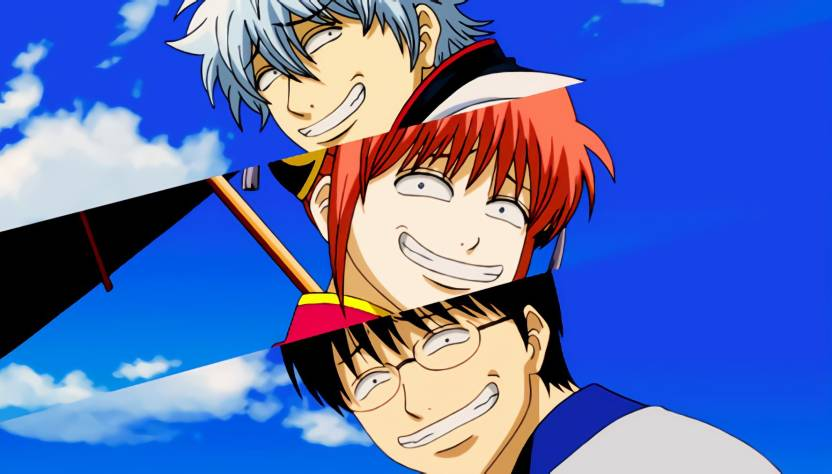 Athah Anime Gintama Sakata Gintoki Shimura Shinpachi Kagura Funny 13
