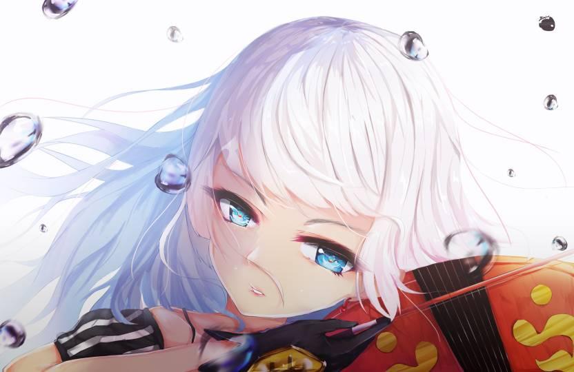 Athah Anime Original Girl White Hair Blue Eyes Violin 13 19 Inches