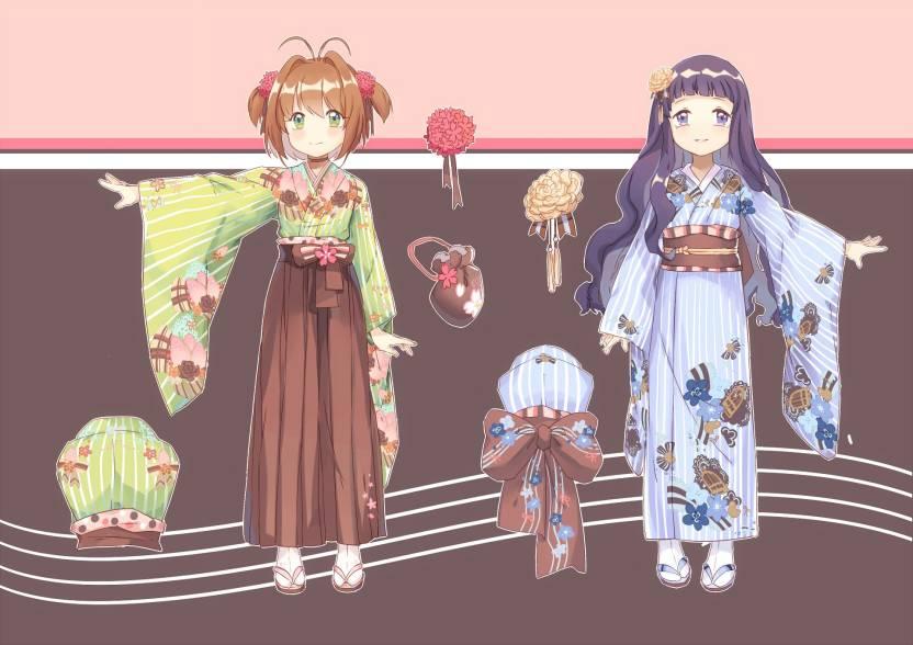 Athah Anime Cardcaptor Sakura Tomoyo Daidouji Sakura Kinomoto 13*19