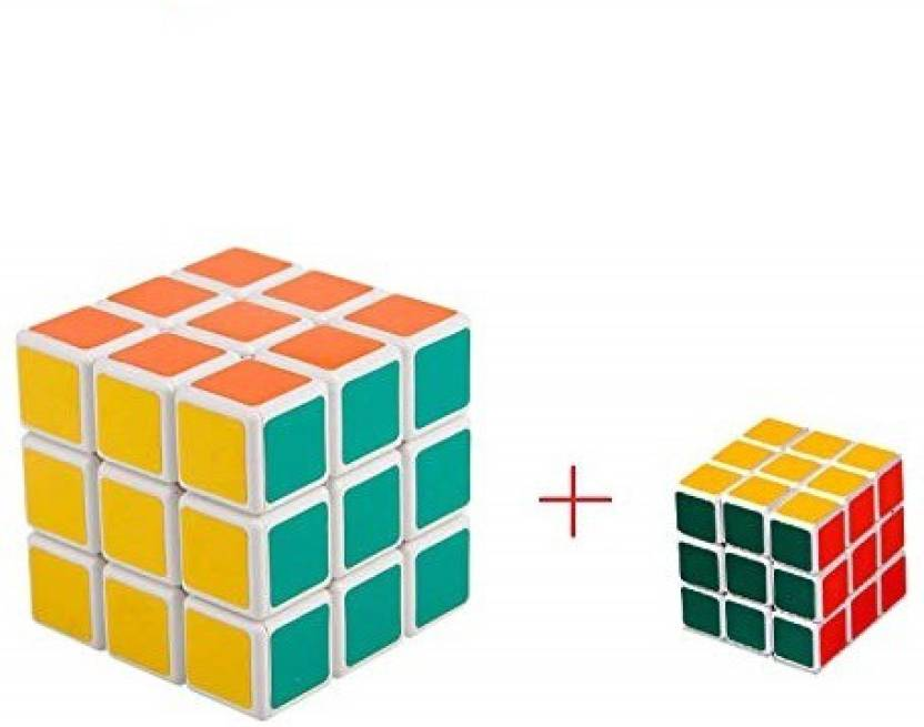A2Z Selling Rubik's Cube (1 Big & 1 Small) | Rubiks Cube 3x3 | Speed Cubes 3x3x3 | Rubix Cube 3x3 | 3x3 Cube Speed Cube | Rubiks Speed Cube 3x3 (2 Pieces)