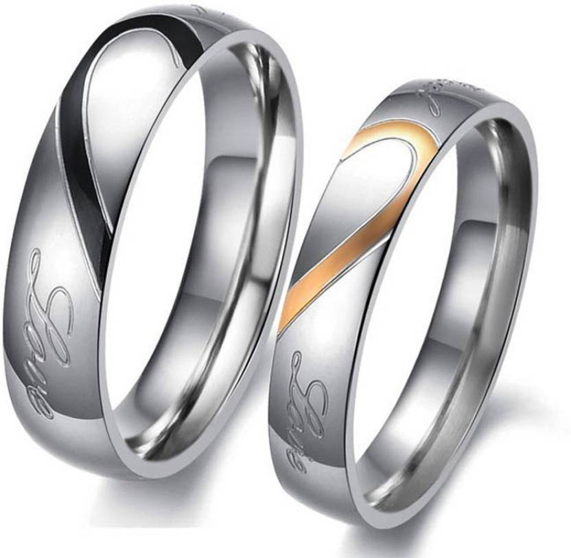 Divastri Lovers Heart Real Love Stainless Steel Proposal Couple