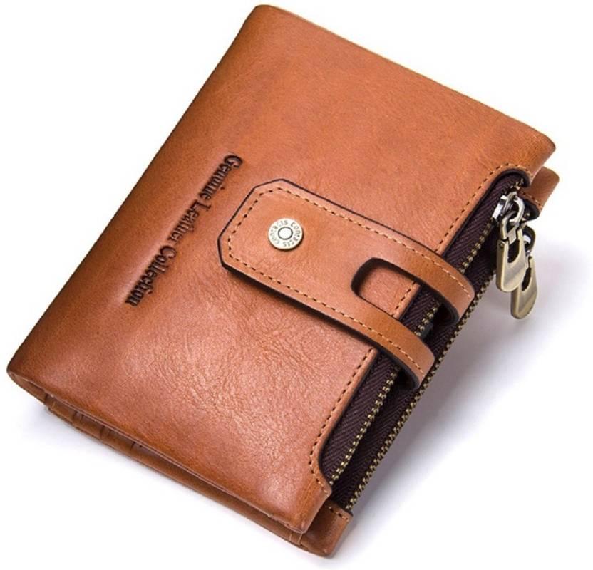 8b150e9b9bcf SPL Men Brown Genuine Leather Wallet