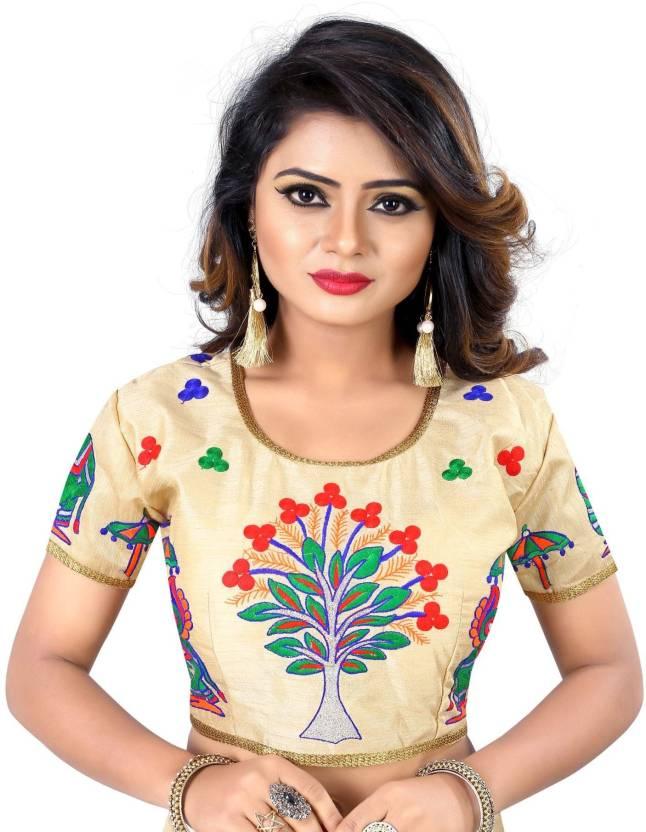 578048f8cdce2c RJ trandz Round Neck Women s Stitched Blouse - Buy RJ trandz Round Neck  Women s Stitched Blouse Online at Best Prices in India