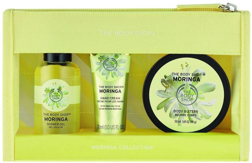 af61e76aa1718 The Body Shop Moringa Beauty Bag Gift Set Price in India - Buy The ...