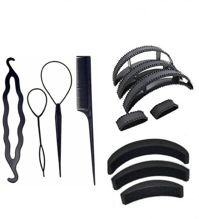 Jagtek Girl Women Hair Styling Combo Set 12 Pcs 4 Pcs Diy Kit