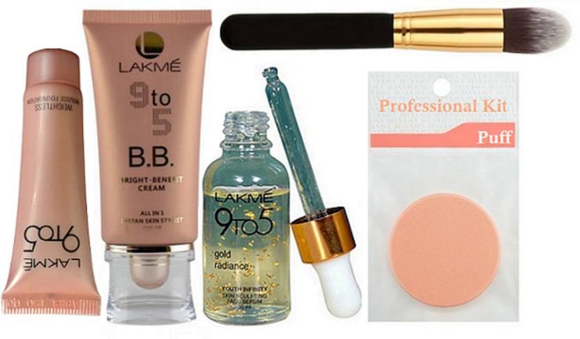 ... Makeup Source · Professional kit Sponge Puff Lakme 9 To 5 B B Cream Weightless