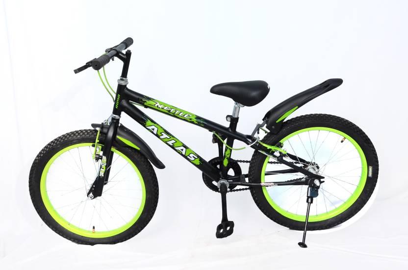 Atlas Mettle Sports Bike For Kids Of Age 5 8yrs Matt Black Green 20