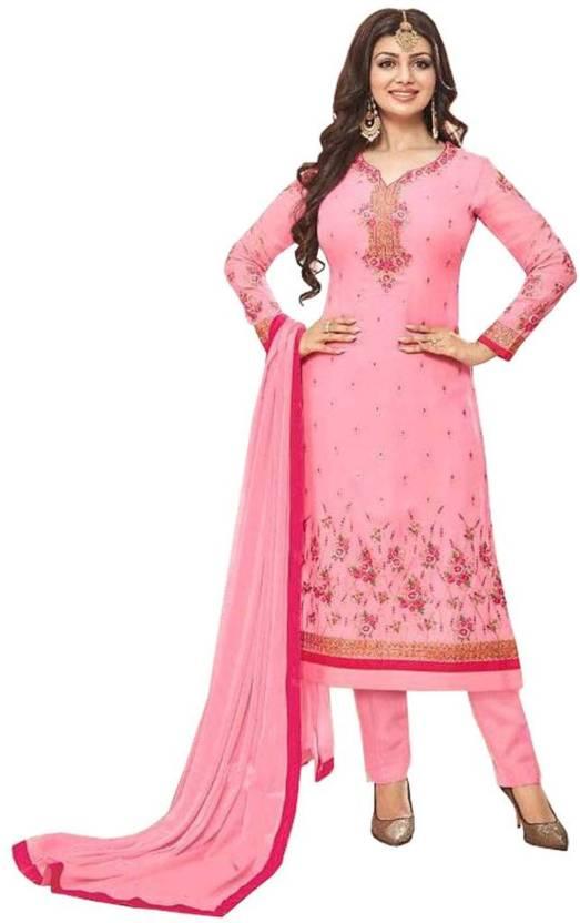 c799417db0 Lajree Designer Georgette Embroidered Semi-stitched Salwar Suit Dupatta  Material Price in India - Buy Lajree Designer Georgette Embroidered Semi- stitched ...