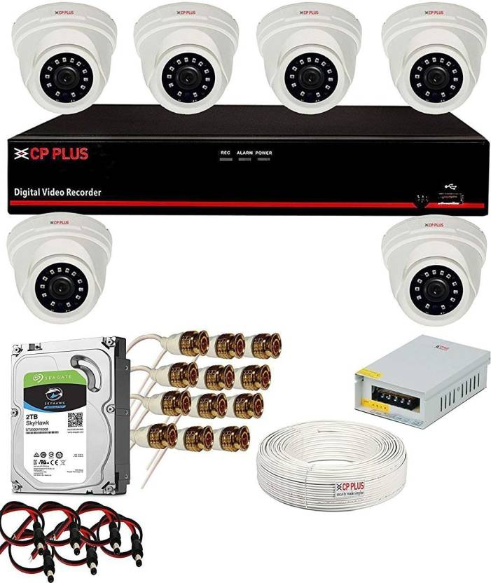 Cp Plus 2 4MP 6 Dome Camera & DVR, 2TB HDD with All UPVsales