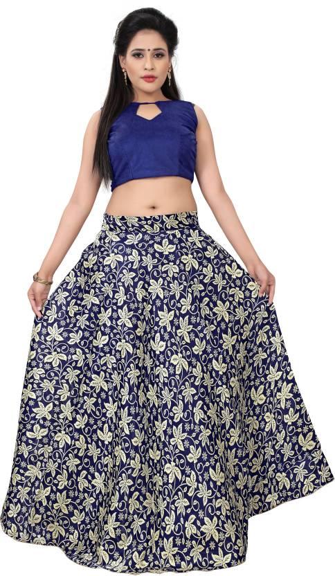336830c7ff Madhav Design Printed Semi Stitched Lehenga & Crop Top - Buy Madhav ...