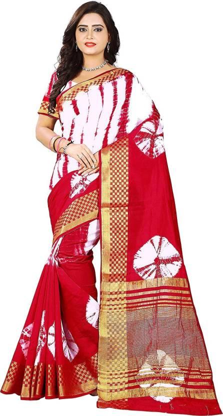 057f93438013e8 Availkart Self Design Bollywood Cotton Silk Saree (Red